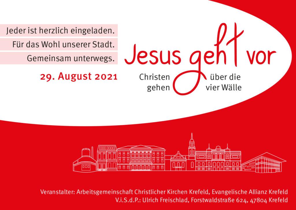Christen gehen über die 4 Wälle Krefeld